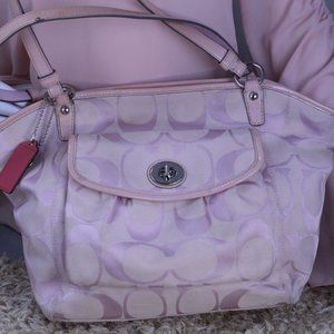 COACH LEAH Light Pink Signature Tote